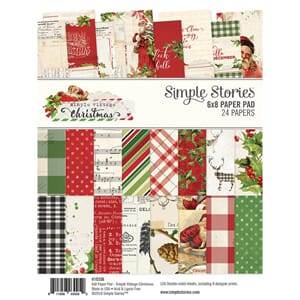 Simple Stories: Simple Vintage Christmas Paper Pad, 6x8, 24