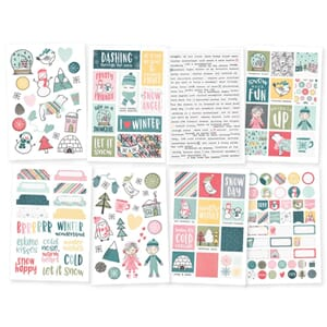 Simple Stories: Freezin' Season Stickers, 4x6, 8/Pkg