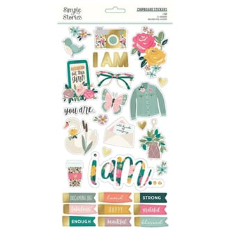Simple Stories: I Am Chipboard Stickers, 6x12 inch