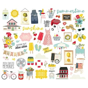 Simple Stories: Summer Farmhouse Bits & Pieces, 56/Pkg
