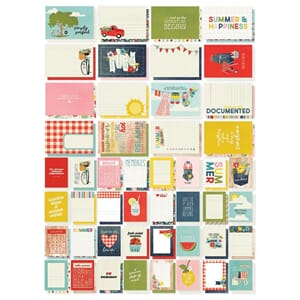 Simple Stories: Summer Farmhouse Snap Cards, 72/Pkg