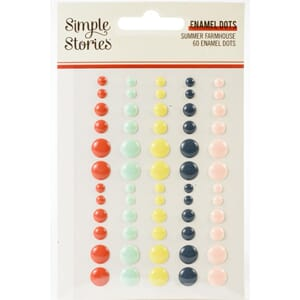 Simple Stories:  Summer Farmhouse Enamel Dots, 60/Pkg
