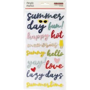 Simple Stories: Summer Farmhouse Foam Stickers, 39/Pkg