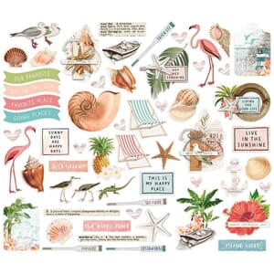 Simple Stories: Simple Vintage Coastal Bits & Pieces, 58/Pkg