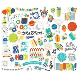 Simple Stories: Birthday Blast Bits & Pieces Die-Cuts, 64/Pk