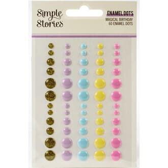 Simple Stories: Magical Birthday Enamel Dots 60/Pkg
