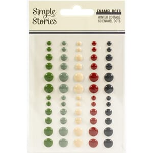 Simple Stories: Winter Cottage Enamel Dots Embellishments