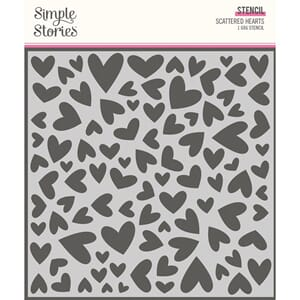 Simple Stories: Scattered Hearts Simple Vintage Cottage Sten