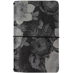 Carpe Diem Black Vintage Floral Traveler's Notebook
