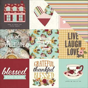 Simple Stories: 4x4 Journaling Card Elements - Vintage Bles