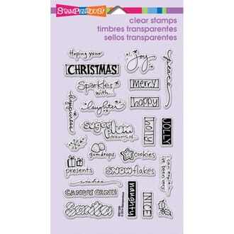 Stampendous: Holiday Words Perfectly Clear Christmas Stamps