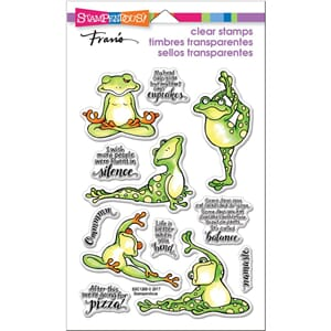 Stampendous: Frog Yoga Perfectly Clear Stamps