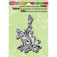 Stampendous: Elegant Scroll - Cling Rubber Stamp 4.5x5.5