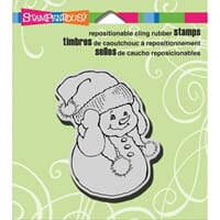 Stampendous: Snowman Warm Ears - Cling Rubber Stamp 3.5x4