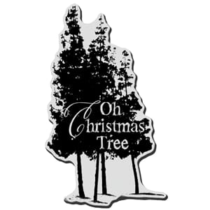 Stampendous: Oh Christmas Tree -Christmas Cling Rubber Stamp