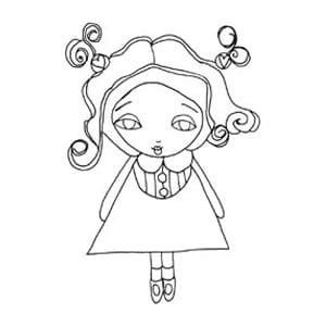 Stampavie: Spirit Girl - Suzi Blu Clear Stamp