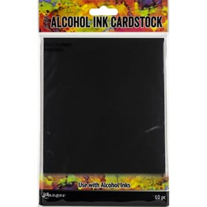 Tim Holtz: Black Matte Alcohol Ink Cardstock, 5x7in, 10/Pkg
