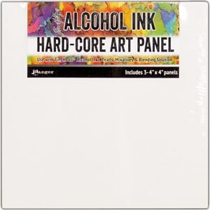 Tim Holtz: Alcohol Ink Hard Core Art Panel, 4x4 inch, 3/Pkg