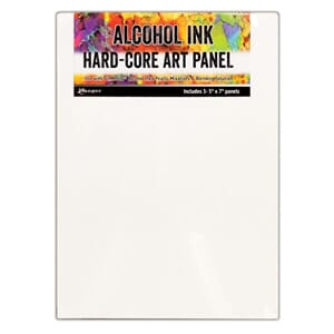 Tim Holtz: Alcohol Ink Hard Core Art Panel, 5x7, 3/Pkg