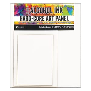 Tim Holtz: Alcohol Ink Hard Core Art Panel, ass.str, 3/Pkg