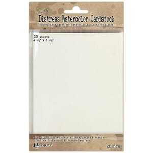 Tim Holtz: Distress Watercolor Cardstock, 4.25x5.5, 20/Pkg