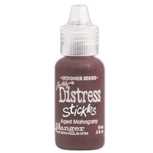 Distress Stickles Glitter Glue - Aged Mahogney