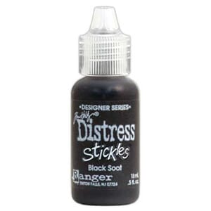 Distress Stickles Glitter Glue - Black Soot