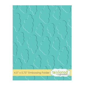 Taylored Expr: Cloudy Days Embossing Folder, 4.5x5.75 inch