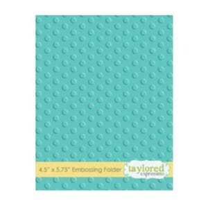 Taylored Expr.: Lots Of Dots Embossing Folder, 4.5x5.75 inch
