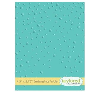 Taylored Expr.: Snowfall Embossing Folder, 4.5x5.75 inch