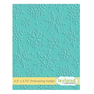 Taylored Expr: Winter Flurry Embossing Folder, 4.5x5.75 inch