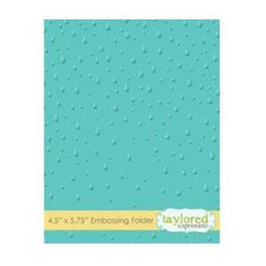 Taylored Expr.: Raindrops Embossing Folder, 4.5x5.75 inch