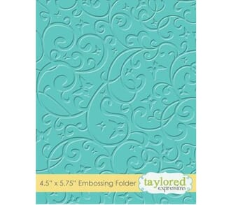 Taylored Expr: Butterfly Swirl EmbossFolder, 4.5x5.75 inch