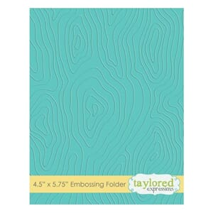 Taylored Expr.: Woodgrain Embossing Folder, 4.5x5.75 inch