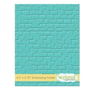 Taylored Expr.: Brick Embossing Folder, 4.5x5.75 inch
