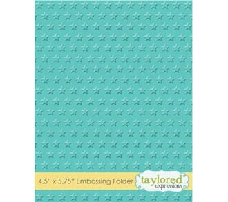 Taylored Expr: Lots of Stars Embossing Folder, 4.5x5.75 inch