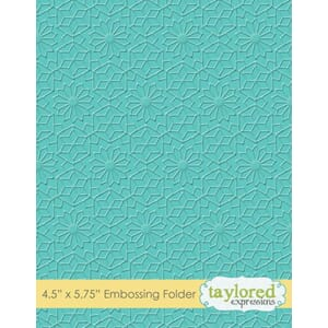 Taylored Expressions Kaleldoscope Embossing Folder