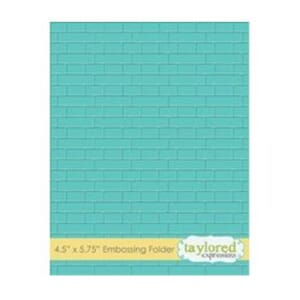 Taylored Expr.: Subway Tiles Embossing Folder, 4.5x5.75 inch