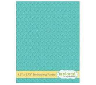 Taylored Expr.: Honeycomb Embossing Folder, 4.5x5.75 inch