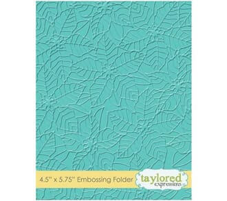 Taylored Expr: Peaceful Poinsettia Emb Folder, 4.5x5.75 inch