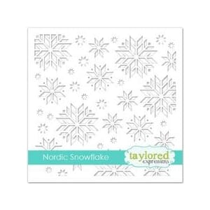 Taylored Expr.: Nordic Snowflake Stencil, 6x6 inch