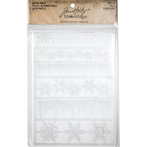 Idea-Ology Frozen Clear Adhesive Alpha Parts 19/Pkg