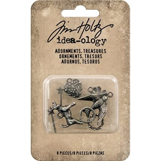 Tim Holtz Idea-Ology: Treasures Metal Adornments, 8/Pkg
