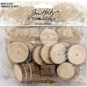 Idea-Ology: Natural Raw Edge Wood Slices, 20/Pkg