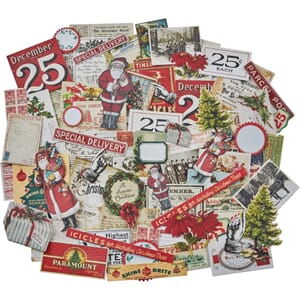 Idea-Ology: Christmas Snippets Ephemera Pack, 86/Pkg