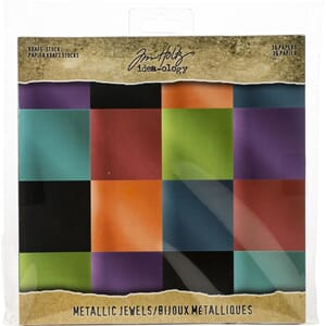 Idea-Ology: Jewels Paper Stash Kraft Metallic Paper Pad, 36/