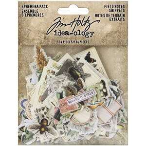 Tim Holtz Idea-Ology: Field Notes Ephemera Pack, 134/Pkg