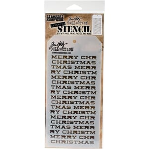 Tim Holtz: Merry Christmas Layered Stencil, 1/Pkg