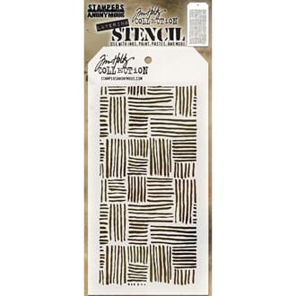 Tim Holtz: Thatched Layered Stencil, 1/Pkg