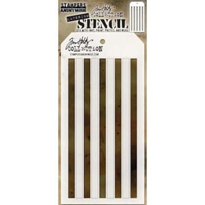 Tim Holtz: Shifter Stripes Layered Stencil, 4.125x8.5 inch